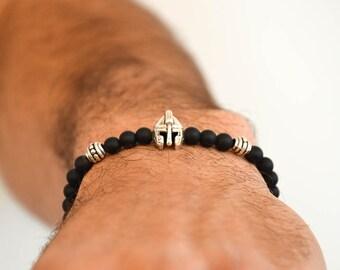 Gladiator Bracelet Men, Helmet Bracelet Men, Spartan Helmet Bracelet Men, Gladiator Bracelet, Men's Bracelet, Gift for Him, Made in Greece.