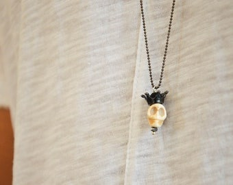 Human Skull, Men's Necklace, Skull Necklace, Skull Charm Necklace, Men's Jewelry, Gift for Him, Made in Greece by Christina Christi Jewels