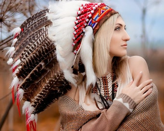 Indian headdress / Native American Headdress / Native American clothing  / Indian costume