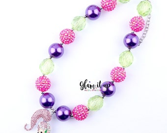 Shimmer Shine necklace-Shimmer and shine-Girls Necklace- Baby Chunky Necklace- Girls jewelry-cake smash-shimmer Necklace-cake smash Necklace