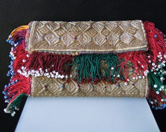 Collectible Afghan Pashtun Embroidery Purse