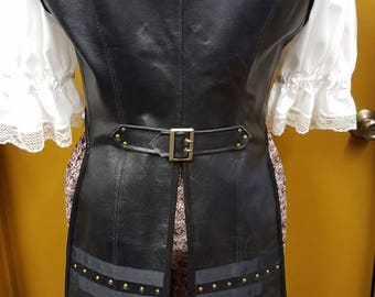 Steampunk Leather Tails Vest