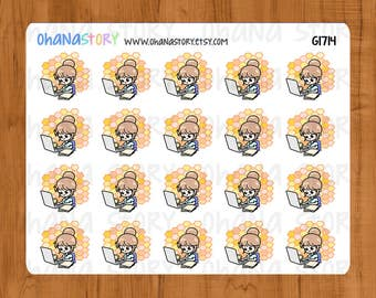 Busy Bee Workaholic Janine Planner Stickers (G1714)