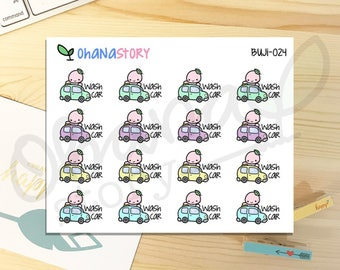 Buji - CARWASH - Planner Stickers (BUJI-024)