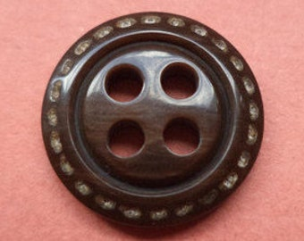 13 small dark brown buttons 13mm (3725) button