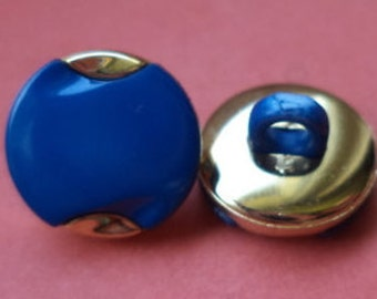 14 BUTTONS Blue 12mm (5176) button