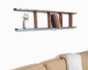 Wood Wall Bookshelf, Wooden Bookcase, Wall Bookcase, Ladder Bookshelf, Picture Shelf, Wall Bookshelf, Bookcase, Wall Decor, Kids Bookcase
