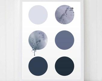 Circles Printable, Grey Print, Minimalist Prints, Gray Circles, Home Decor, Geometric Art, Abstract Art, Printable Wall Art, Wall Decor