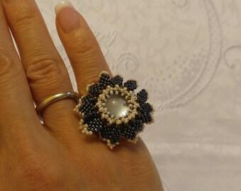 Sunflower Beaded Ring
