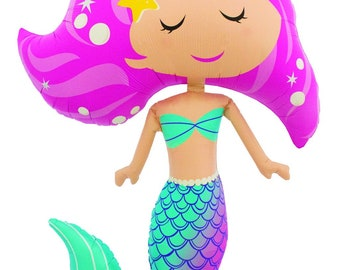 Pink Mermaid Balloon, Mermaid Party Kit