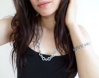 Necklace - industrial style