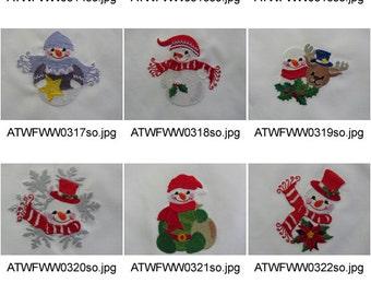 Little-Snowmen ( 10 Machine Embroidery Designs from ATW ) XYZ17B