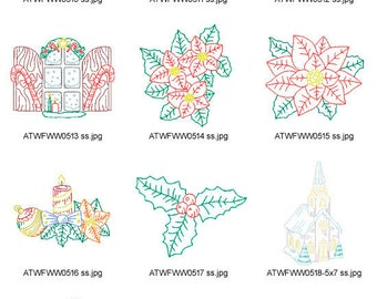 Multiline-Vintage-Christmas-2 ( 10 Machine Embroidery Designs from ATW ) XYZ17C