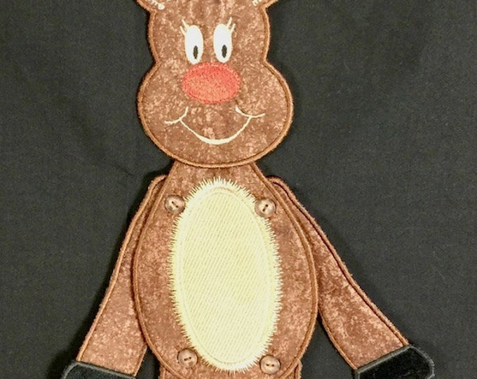 """Reindeer Project makes 18"""" or 15"""" size. Requires minimum 5""""x7"""" hoop size"""