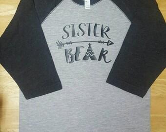 Sister Bear Baseball tee