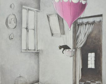 The cat in the balloon