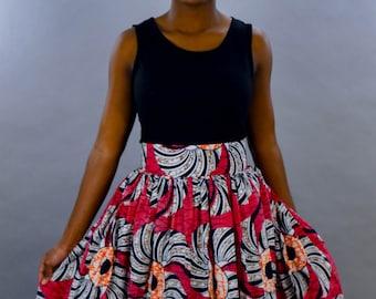 Tausi African Maxi Skirt Pink
