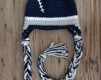 Cowboys Baby Crochet Football Team Beanie Hat