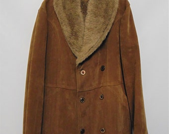 Vintage Brown Coat with Fur Lining