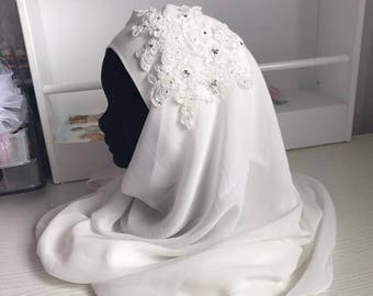Lace jewel for wedding hijab hair jewel