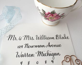 Custom Wedding Envelope Calligraphy: Formal Style