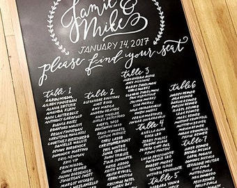 Rustic Chalkboard Sign (Large)