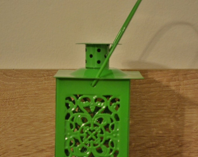 10%OFF Small vintage green vintage metallic lantern / lanterns