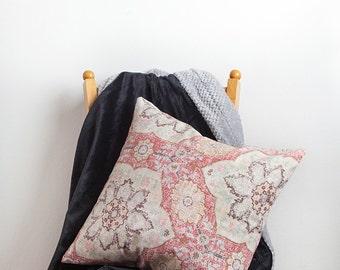 Muted Red Pillow Cover, Red, Pillow Cover, Red Pillow, Cotton Pillow Cover, Cotton Pillow,  Red Cotton Pillow,