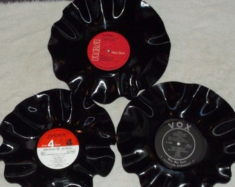 Lot Of 3 Vinyl Record Classical Record Album Bowls Mozart Bach Beethoven Brahms Chopin