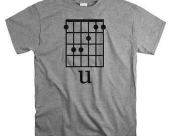 FU Shirt - Funny T Shirt with FU Guitar Chords Image - Guitar Gifts for Men - T-Shirts