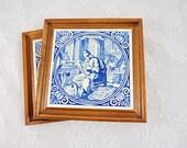 Two Delft Blue Ceramic Wa...