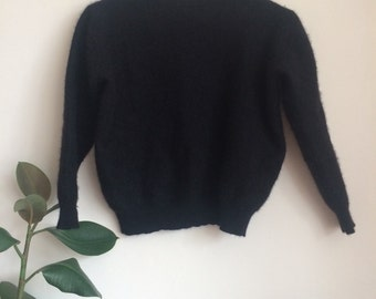 Black cashmere jumper sweater Child's Size 10yo
