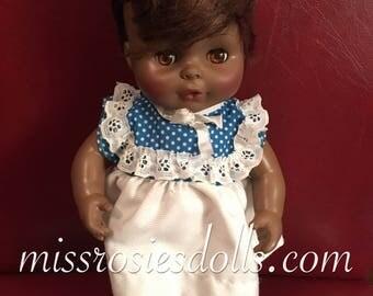 "Vintage 1977 Horsman African American baby Doll 12"""