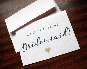 Will You Be My Bridesmaid Card A6 Pink Parchment Card