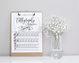 Modern Calligraphy Capitals Practice Sheets