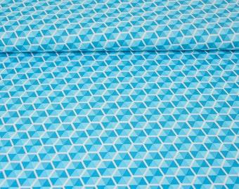 Cotton - patchwork Riley Blake desert bloom - blue desert Hexies