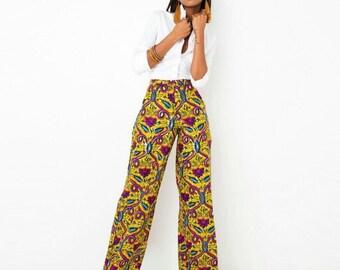 Wide Leg Ankara Trousers