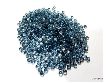 10 pcs 3mm London Blue Topaz cabochon Round Loose Gemstone AAA++ quality 100% Natural London Blue Topaz Round cabochon Gemstone top quality