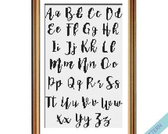 Alphabet Cross Stitch Pattern Cross Stitch Font Instant