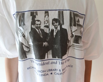 Elvis Presley and President Nixon vintage 80s official tee size XL NWT