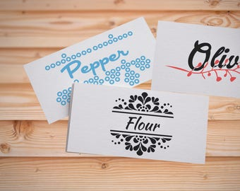 Custom Pantry Labels, Pantry Canister Labels , Vinyl Pantry Labels ,  Kitchen Decals