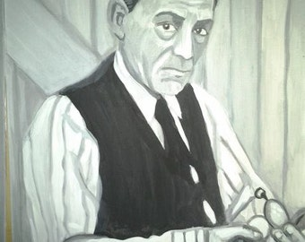 Lon Chaney, Original Painting, Black and White, master of disguise