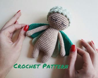 Crochet PATTERN: Amigurumi Grass Bug Stuffed Toy, Crochet Bug Doll