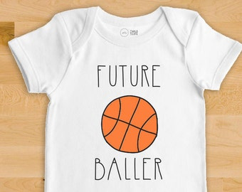 Basketball Baby Bodysuit - Future Baller - Sports Baby, Baby Clothes, Baby Shower Gift