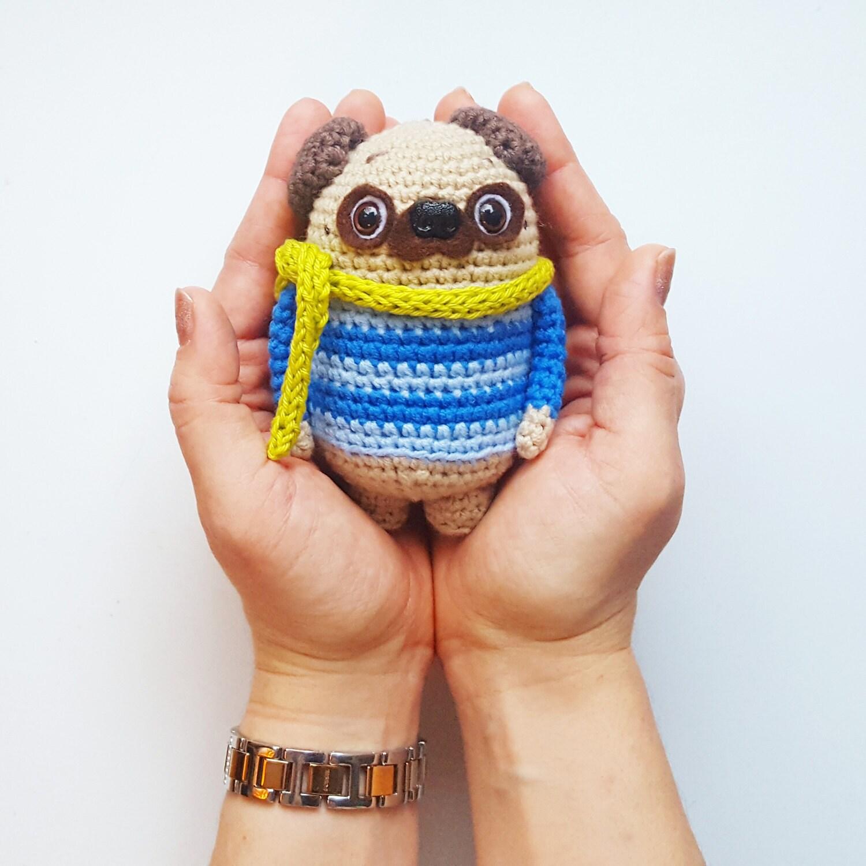 Amigurumi Doll Anleitung : Amigurumi Hakel Anleitung Karli der Mops Hund