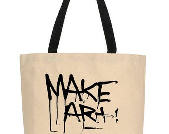 Make Art Tote, Canvas Tote