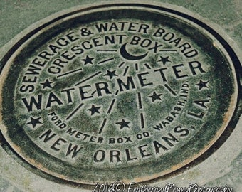 New Orleans, New Orleans Photos, New Orleans Water Meter, New Orleans Art, Famous New Orleans, New Orleans Prints, NOLA, New Orleans decor