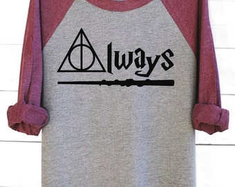 Always | Graphic Tee | Harry Potter Shirt | Always Shirt | Harry Potter Always | Harry Potter Gift | Deathly Hallows Shirt | Hogwarts Shirt