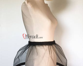 Black Modern Cage Skirt in Tulle Festival Fashion Burlesque