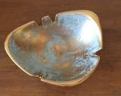Stengl Granada Gold // Stengl Pottery // ashtray // MCM // Atomic design // Aqua and Gold